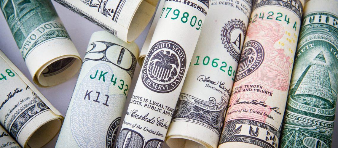 Zak met geld